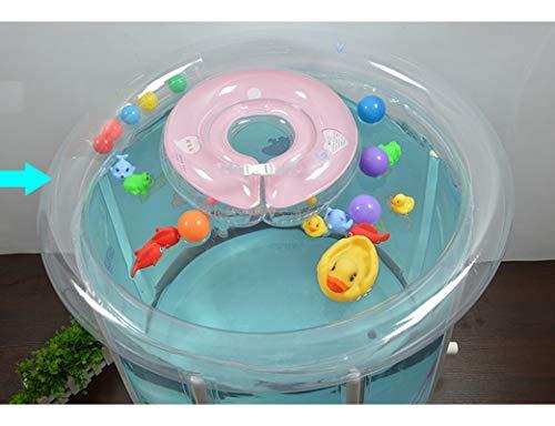 Newborn Baby Swimming Pool, Thick Inflatable Transparent Bracket Children Swimming Bucket, 0-3 Years Old Baby Bath Barrel, Water Saving Pool (80cmx80cm) floding bathtub by ESPERANZA (Image #4)