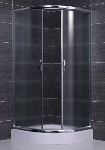 Box ducha semicircular redondo cristal 6 mm Apertura deslizante 75 ...
