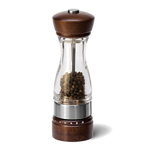 (COLE & MASON Keswick Wood Pepper Grinder - Wooden Mill Includes Gourmet Precision Mechanism and Premium Peppercorns)