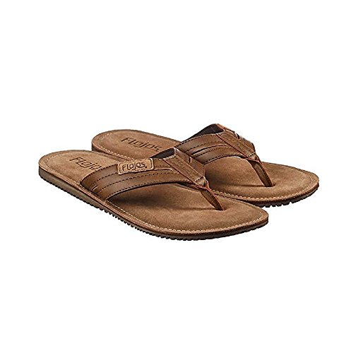 Mens Flip Cognac Flop Brown Flojos Leather 7TZUq