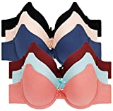 2ND DATE Women's Soft Touch Cotton Bras (Packs of 6) - Various Styles