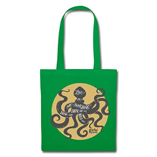 Spreadshirt Octopus Kelly Planet Quote Tote Green Bag Animal rwEvq6r