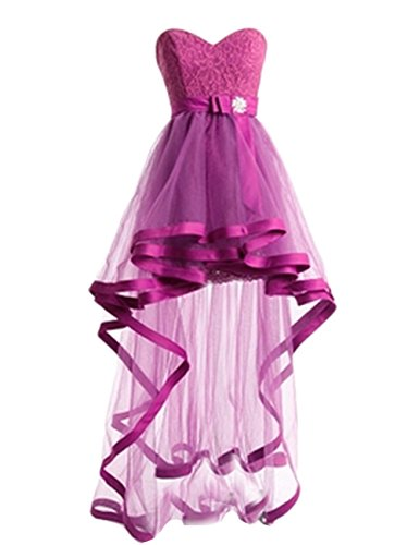 Homecoming Damen Mint Kleider Low Spitzen Fuchsia Kurz Kleider High Ball Party Fanciest nZqpTSW0q