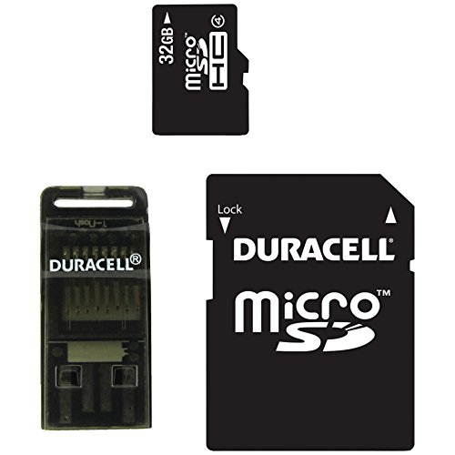 (DURACELL DU-3IN1-32G-R Class 4 microSD(TM) Card with SD(TM) & USB Adapters (32GB) electronic consumer Electronics)