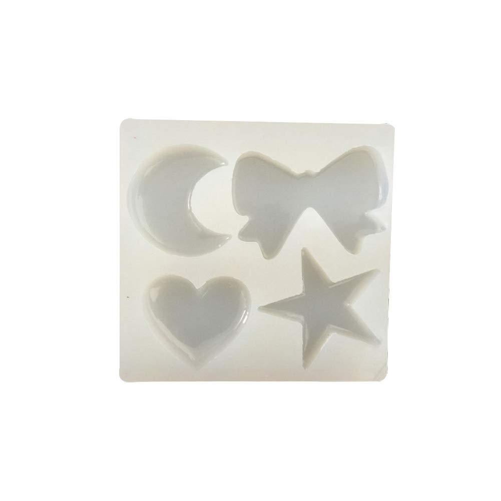 1pc transl/úcido moldes de silicona hecha a mano Luna Star Craft Molde epoxi de silicona del molde de resina de colada de la torta herramientas de bricolaje hacer chocolate Accesorios para Ni/ños