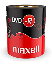 Maxell 275733 DVD-R onbewerkte schijf (16x Speed, 4,7 GB, 100 Shrink) 100 Diskels - Shrink Wrapped