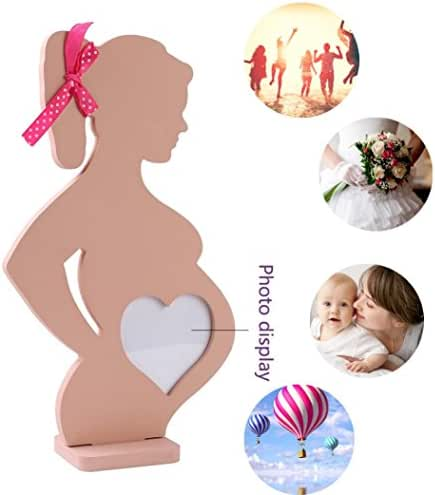 Iuhan Wedding Wooden Photo Frame Pregnant Women Home Decoration Body Props Table Decor (Wood)