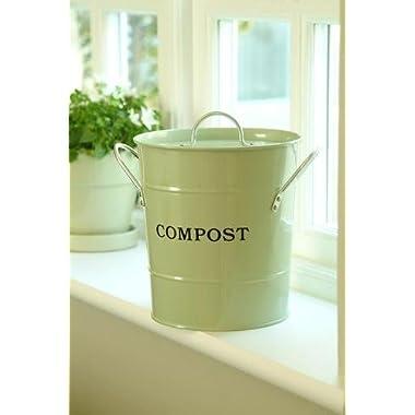 Exaco CPBG 01 1-Gallon 2-in-1 indoor Compost Bucket, Green