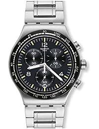 Men's Night Flight YVS444G Silver Stainless-Steel Swiss Quartz Fashion Watch