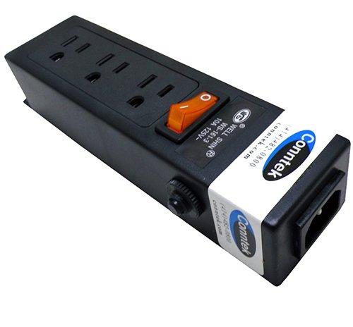 Conntek Power Strip 125V 7-1/2-Inch Housing IEC C14