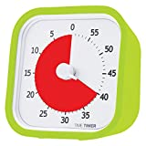 Time Timer MOD (Lime Green), 60 minute Visual Analog Timer, Optional Alert (On / Off), No Loud Ticking; Time Management Tool