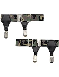 High - End Sock Garters - Premium 2-Pack Double Sturdy Clip Sock Suspenders For Cotton & Silk Socks- Adjustable Men's Sock Holders For Neat- Great Gift Idea