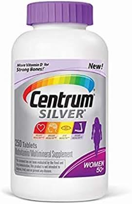 Centrum Silver Women Multivitamin/Multimineral Supplement Tablet, Vitamin D3, Age 50+