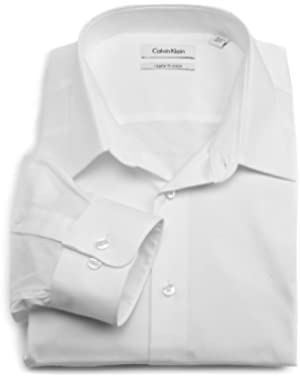 Calvin Klein Men's Regular-Fit Striped Button-Front Dress Shirt