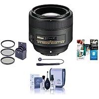 Nikon 85mm f/1.8G AF-S FX NIKKOR Lens, U.S.A. Warranty - BUNDLE - with Pro Optic 67mm Filter Kit (UV/CP/ND), Lens Cleaning Kit, Capleash II, and Software Package