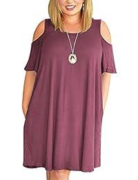 Nemidor Women's Cold Shoulder Plus Size Casual T-shirt...