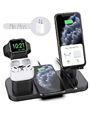 Wireless Charger Stand, CEREECOO 4 in 1 Wireless Charging Station Dock Compatible with iPhone Series12/11/11pro/Xr/Xs/X/Max/8/8Plus Apple Watch6/5/4/3 AirPods Pro/1/2(iWatch Charger Required) photo