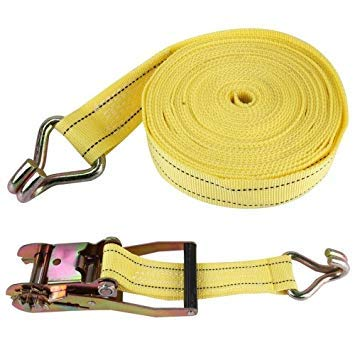 Uniqus ZONGYUAN 10m×5cm 5 Ton Car Bundled Device with Hook and Buckle High Strength Cable Cord Heavy Duty Recovery Securing Accessories for Cars Trucks