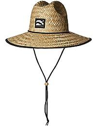 Brooklyn Surf Men's Straw Sun Lifeguard Beach Hat Raffia Wide Brim, Natural, One Size