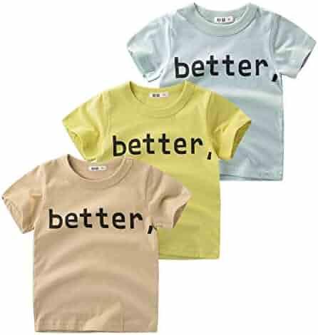0a0818d84 Guozyun Baby Boys Cotton T-Shirt Short-Sleeve Tees Shirt Undershirt for  Infant Toddler