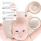 Zhongsheng Baby Head Shaping Pillow, Baby Flat Head Pillow for Newborns, Baby Pillows for Newborn Sleeping, Made with Breathable Cotton, Ergonomic Design, Environmental Protection