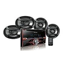 """Pioneer FXT-X7269BT Package: CD Receiver Double Din, Pair 6.5"""" 2-Way & Pair 6""""x9"""" 3-Way Speakers"""