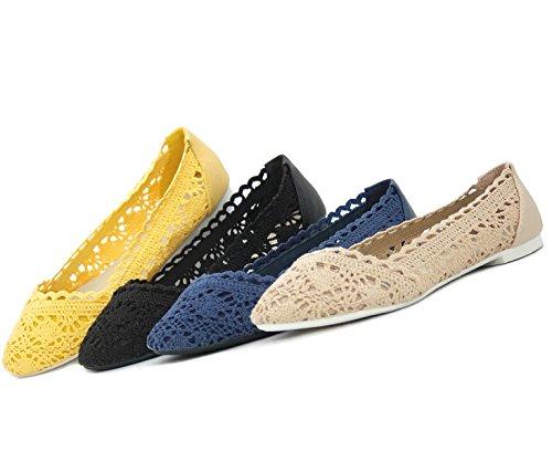 Kayla Shoes© modische Tred Slipper im Ballerina Design Khaki