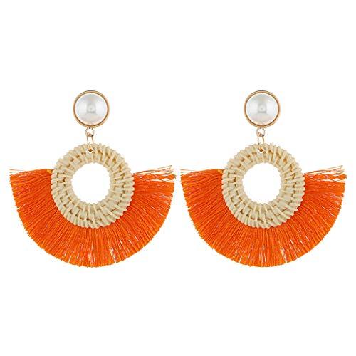 (Earrings for Girls,Mebamook Bohemian Style Trend Boho Tassel Fringe Earrings Dangle Drop)