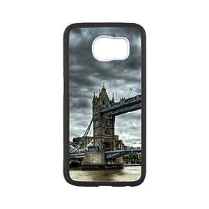 Samsung Galaxy S6 Cases London Bridge 2, Samsung Galaxy S6 Cases Bridge Design for Men, [White]