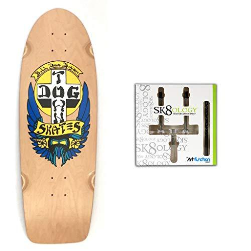 カウントマナー流体Dogtown スケートボードデッキブルドッグ ナチュラル 10 x 30 インチ + Sk8ology ウォールマウント