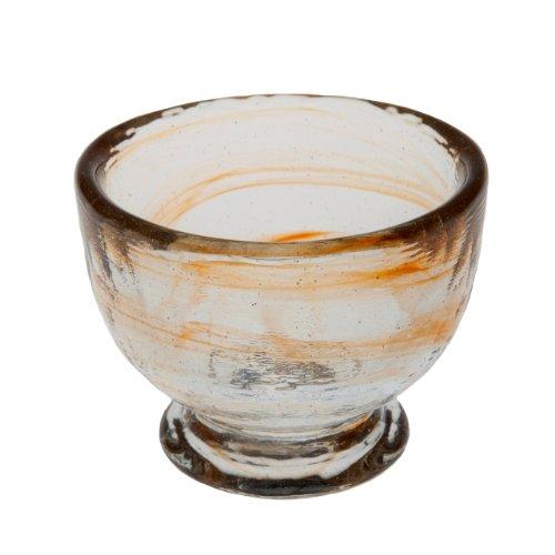 - Abigails Clear Stone Age Sorbet Bowl, Tangerine