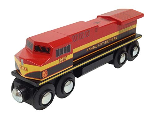 (Choo Choo Track & Toy Co. Kansas City Southern Diesel Locomotive Magnetic Wooden)