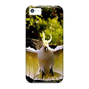 Premium HFg6413ZBbX Case With Scratch-resistant/ How Amazing Yellow Crested Cockatoo Case Cover For Iphone 5c
