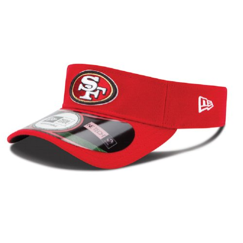 San Francisco 49ers Red New Era On Field Visor Hat Cap