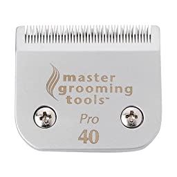 Master Grooming Tools Ceramic Blades  -  Heat-Resistant Detachable Blades for A5-Style Dog-Grooming Clippers, #40