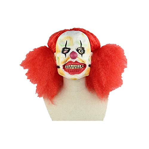 Red Big Scorpion Clown Girl Women's Mask Costume, Halloween Clown Returning Soul, Horror Ghosting Latex Head Mask, One More Halloween Mask,Sary 3D Halloweenmask Costume]()