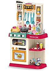 little chef kitchen set water and music and spraying 65 pcs