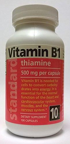 Standard Vitamins Vitamin B1 500mg 100 Capsules