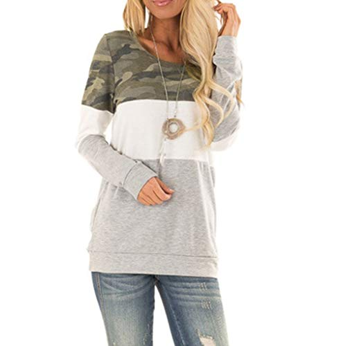 Shirt for Women Fashion Ladies Wave Point Stripe Splicing Casual T Shirt Ladies Loose Long Sleeve Top Blouse Pullover