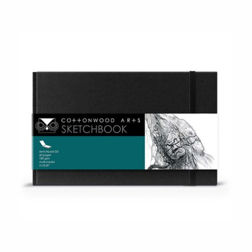 Cottonwood Arts Designer Sketchbook,Black,5.25X8.5 by Cottonwood Arts