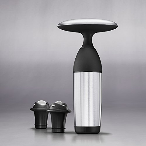 OXO SteeL Vacuum Wine Saver and Preserver with Two Stoppers by OXO (Image #5)