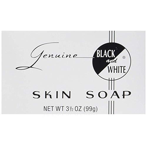 Black White Skin Soap Bar 3.5 oz Pack of 12