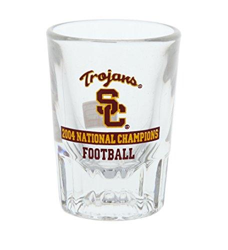 University of Southern California USC 2004 National Champions SC Trojans Football Shot Glass