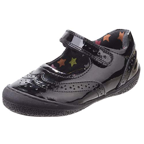 - Hush Puppies Childrens Girls Rina Touch Fastening School Shoes (11 M US Little Kid) (Black)