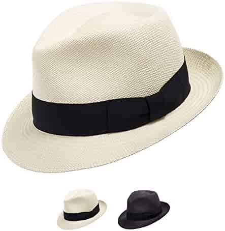ca1754eaf5682 Ultrafino Classico Trilby Snap Brim Fedora Straw Panama Hat Handwoven in  Ecuador