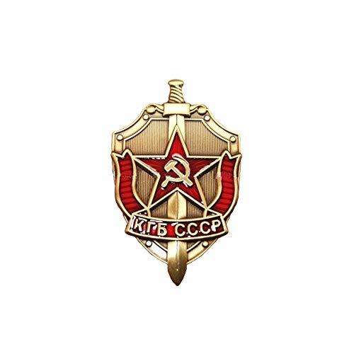 (Comidox 1PCS KGB Soviet Russian Badge Medal Sickle & Hammer Emblem USSR KGB CCCP)