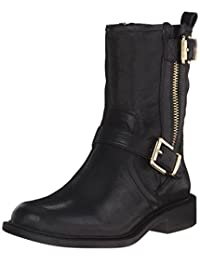 Vince Camuto Womens Roadell Motorcycle Boot, Black, 5.5 M US