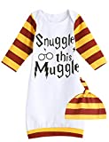 Snuggle This Muggle Newborn Baby Gown Layette Baby Boy Girl Sleepwear Soft Blanket Sleepers Coming Home Outfits (3-6 Months, white01)