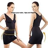 +MD Women's Full Body Shapewear Slip V Neck Lace