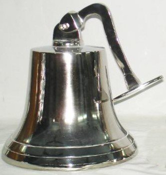 Brass Ship Bell - 12''D - Nickel Plated 16993N